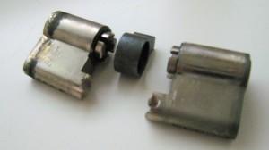 gebroken cilinder van slot