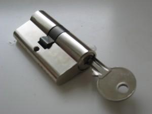 gesloten cilinder van een slot