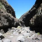 La Palma-El Tablado-Lange Wandeling naar strand-Rivierbedding