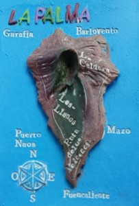 La Palma-Reliëf Kaart
