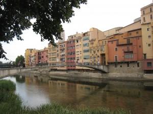 Girona - uitzicht over het water