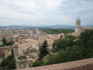 Girona (uitzicht vanaf de oude stadsmuur